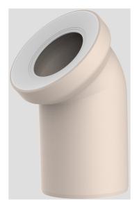 Sanit WC-Anschlussbogen DN100 bahamabeige 45 Grad