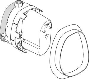 Ideal Standard Unterputz-Bausatz 1 für Zentral-Thermostate (G 1/2)
