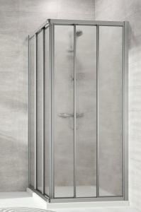 Hüppe Alpha 2 4-Eck Gleittüreckeinstieg 3teilig Kunstglas