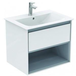 Ideal Standard Connect Air Möbel-Waschtisch Unterschrank 600 mm (Dekor: Eiche grau Dekor/Weiß matt)