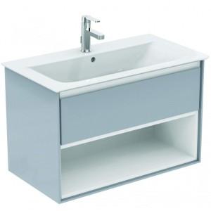 Ideal Standard Connect Air Möbel-Waschtisch Unterschrank 800 mm (Dekor: Eiche grau Dekor/Weiß matt)