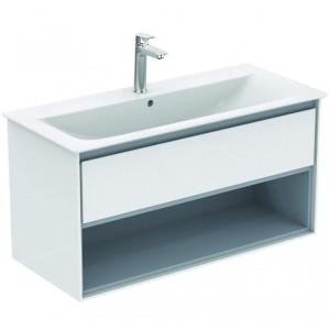 Ideal Standard Connect Air Möbel-Waschtisch Unterschrank 1000 mm (Dekor: Braun matt/ Weiß matt)