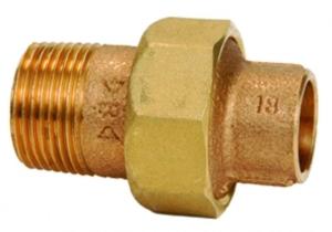 RG-Löt-Verschraubung,konisch dichtend, mit Außengewinde und Innenlötende (Abmessung dxRp: 15x1/2)