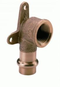 Kupfer Press Deckenwinkel 90° mit Innengewinde (Größe: 1/2x15mm)