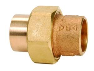RG-Löt-Verschraubung, konisch dichtend, beiderseits mit Innenlötende (Abmessung: d=15mm)