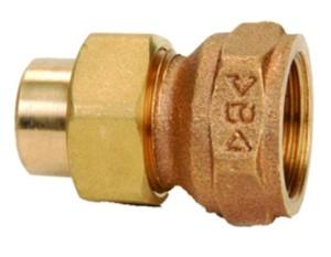 RG-Löt-Verschraubung, konisch dichtend mit Innengewinde und Innenlötende (Abmessung dxRp: 15x1/2)