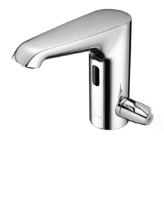 SCHELL Elektronische Waschtisch-Armatur XERIS E-T HD-M mid, Thermostat, Steckernetzteil