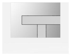 SANIT Betätigungsplatte LOS Grundplatte chrom hochglanz, Tastenpaar mattchrom