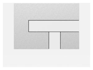 SANIT Betätigungsplatte LOS Grundplatte mattchrom, Tastenpaar weiß