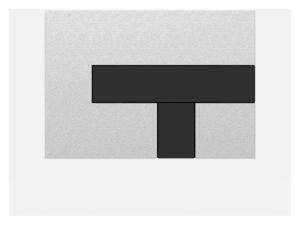 SANIT Betätigungsplatte LOS Grundplatte mattchrom, Tastenpaar schwarz