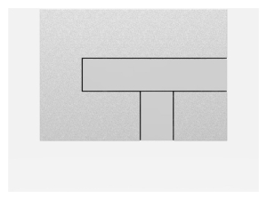 SANIT Betätigungsplatte LOS Grundplatte mattchrom, Tastenpaar chrom hochglanz
