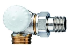 Heimeier Thermostatventil-Unterteil V-exact II Winkeleck/links 3/4 AG