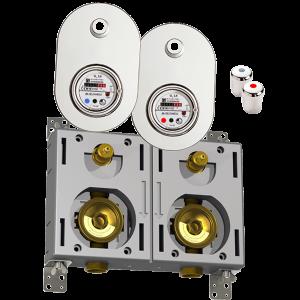 Deltamess Miniblock-Duo G3/4 IG, Messing - System Trockenkapsel TKS