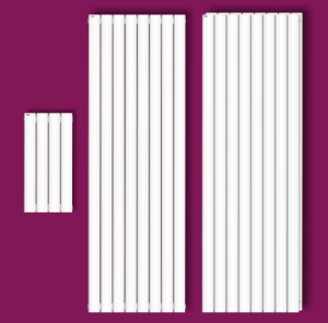 MERT Flacho Standard Design-Badheizkörper Vertikal (RAL 9016 Verkehrsweiß: Breite 290mm Höhe 600mm einlagig)