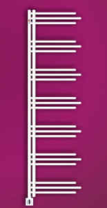 MERT Nezife Elektro-Badheizkörper weiß (Varianten: : RAL 9016 Verkehrsweiß Höhe:1200 Breite 500mm)