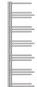 MERT Nezife Elektro-Badheizkörper chrom (Varianten: : Chrom Höhe:1200 Breite 500mm)