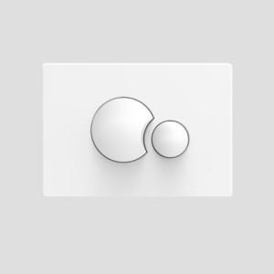 Sanit WC Betätigungsplatte S706 v.vorne/oben weiss