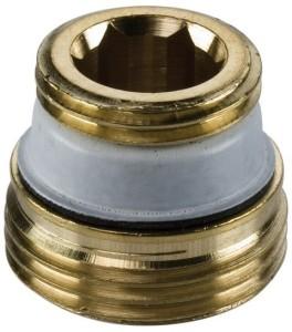 SIMPLEX Anschlussnippel f. Hahnblock G1/2a x G3/4a MS, flachdichtend