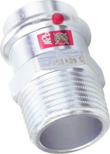 Viega Prestabo Press Übergangsstück Außengewinde (Größe: 15mmx1/2 AG)