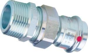 Viega Prestabo Press Übergangsverschraubung  Außengewinde (Größe: 15mmx1/2 AG)