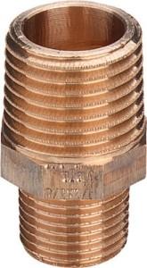 Rotguss Doppelnippel reduziert Typ 3245 (Variante: 1/2x3/8)