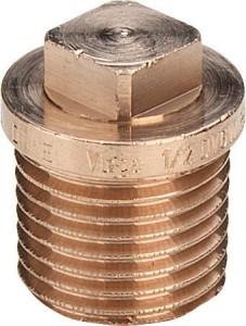 Rotguss Stopfen mit Rand Typ 3290 (Variante: 1/2)