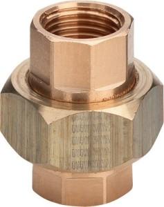 Rotguss Rohrverschraubung flachdichtend Typ 3330 i/i (Variante: 1/2)