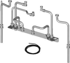 Wolf Anschluss-Set für stehenden Speicher-Wassererwärmer Aufputz