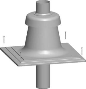 Wolf Schachtabdeckung aus Kunststoff DN80 mit integrierter Luft-/Abgasführung und Mündungsstück für raumluftunabhängigen Betrieb