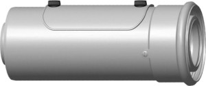 Wolf Luft-/Abgasrohr mit Revisionsöffnung, weiß, steckbar (Variante: DN80/125 bis 50kW)