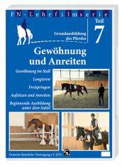 FN-Lehrfilm DVD Teil 7: Grundausbildung des Pferdes - Gewöhnung und Anreiten
