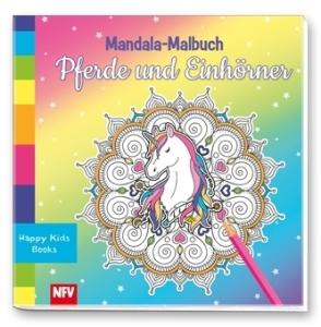 Mandala-Malbuch: Pferde und Einhörner