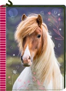 Pferdefreunde -  Tagebuch mit Reißverschluss