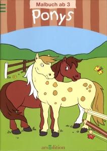 Malbuch: Ponys