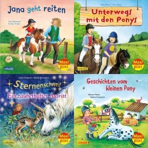 Maxi-Pixi-Serie Nr. 70: Pferde und Ponys (4 Bücher)