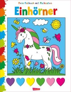 Mein Malbuch mit Malkasten: Einhörner