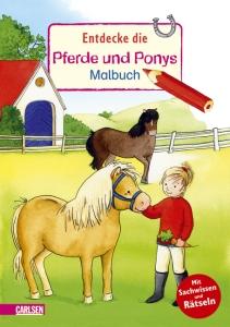 Entdecke die Pferde und Ponys Malbuch