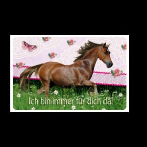 Pferdefreunde - Freundschaftskärtchen Ich bin immer für dich da