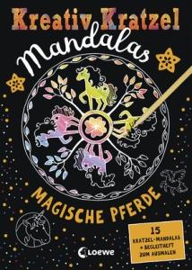 Kreativ-Kratzel Mandalas: Magische Pferde