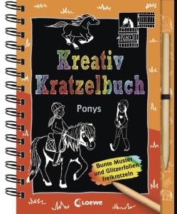 Kreativ-Kratzelbuch - Ponys