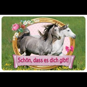 Pferdefreunde - Freundschaftskärtchen Schön,dass es dich gibt!