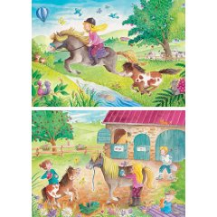 2x 20 Teile Puzzle: Kleines Pony