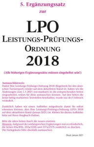 Leistungs-Prüfungs-Ordnung (LPO) 2018, 5.Ergänzungssatz Januar 2021