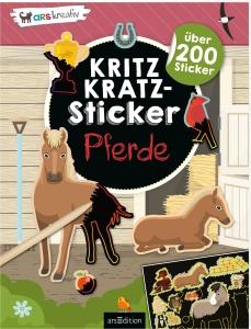 Kritzkratz-Sticker Pferde