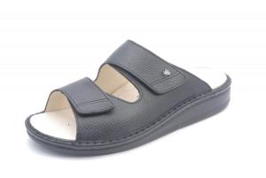 FinnComfort Herren Pantolette RIAD schwarz  Bison (Größe: 46)
