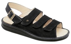 FinnComfort  Damen Sandale SYLT schwarz Nubuk (Größe: 39)