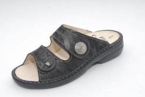 FinnComfort Sandale  Sansibar Schwarz Miteric (Größe: 42)