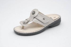 FinnComfort Zehensteg-Sandale Wichita Silber (Größe: 36)