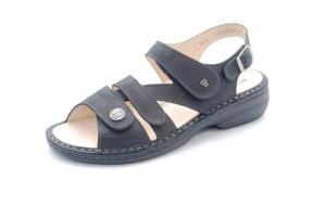 FinnComfort Sandale  Gomera  Schwarz Glattleder (Größe: 41)
