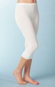 Medima Classic Damen-Hose 3/4 lang 20%  Angora weiß (Größe: S)